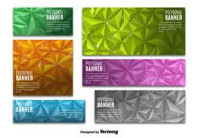 Colorful Polygonal banners
