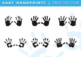 Baby Handprints Free Vector
