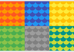 Fish Scales Free Vector Patterns