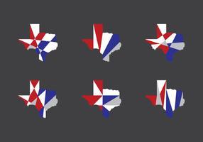 Texas Map Vector Icons #6