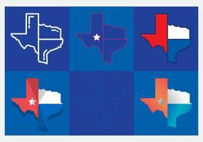 Texas Map Vector Icons #5