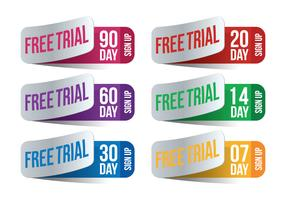 30 Day Free Trial Vector