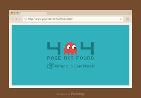 Free 404 Error Vector Page