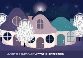 Mystical Landscape Vector Illustration