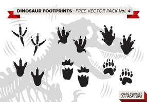 Dinosaur Footprints Free Vector Pack Vol. 4