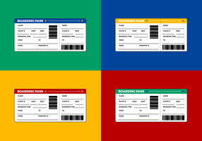 Free Airline Ticket - Boarding Pass Vector