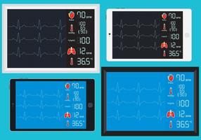 Ekg Machines Vectors