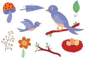 Free Forest Birds Vectors
