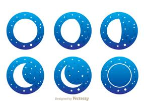 Moon With Stars Icons
