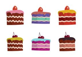Free Cake Slice Isolated Vector Illustration