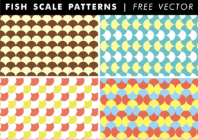 Fish Scale Patterns Free Vector