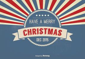 Retro Style Christmas Greeting Illustration
