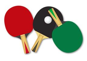 Free Rackets For Table Tennis Vector