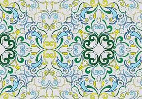 Green seamless garden pattern