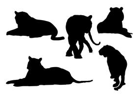 Free Tiger Silhouettes Vector