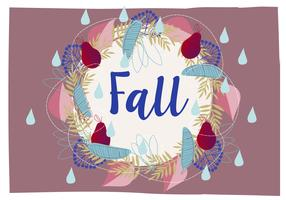 Cute Autumn Wreath Illustration Background