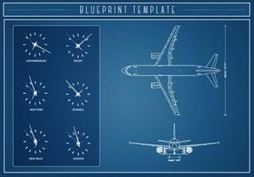 Free Airlplane Blueprint Vector
