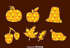 Thanksgiving Triangle Mozaic Icons