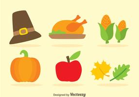 Thanksgiving Flat Icons
