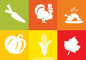 Thanksgiving White Icons