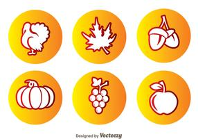 Thanksgiving Circle Icons