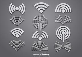 Vector wifi logo vectors