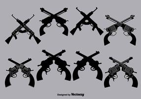 Vector crossed guns