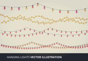 Hanging Lights Vector Elements