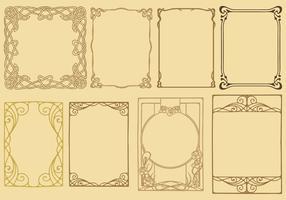 Art Nouveau Frame Vectors