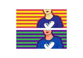 Free Simple Pop Art Facebook Cover