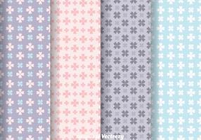 Love Flower Girly Pattern Vectors