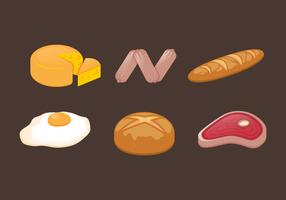 Vector Food llustration Set