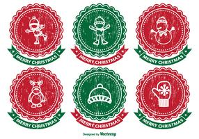 Distressed Christmas Label Set