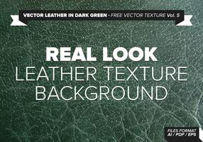 Vector Leather In Dark Green Free Vector Texture Vol.5
