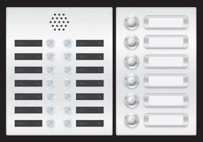 Elevator And Door Button Vectors