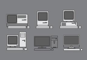 Vector Computer Illustration Set