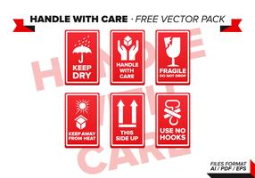Handle With Care Free Vector Pack