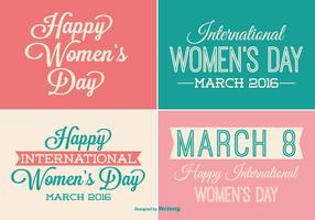 Womens Day Label Set