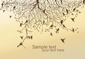 Tree and Bird Vector