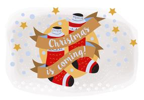 Hand Drawn Christmas Background Illustration