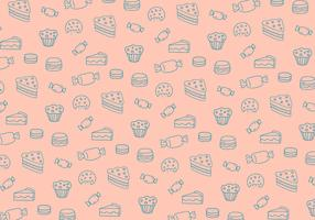 Sweets pattern background