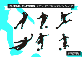 Futsal Players Free Vector Pack Vol. 2