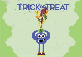 Free Monster Trick Treat Vector