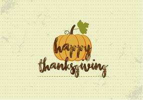 Free Happy Thanksgiving Pumpkin Vector