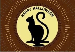 Free Halloween Moon Cat