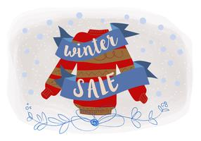 Christmas Sale Vector Background