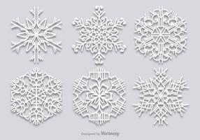 White snowflakes set