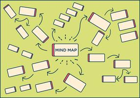 FREE MIND MAP ELEMENT VECTOR