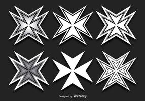 Maltese Cross Shapes