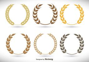 Flat laurel wreath set